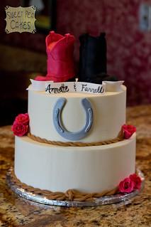 Cowboy Themed Wedding Cakes