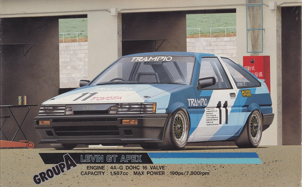 Ae86 Toyota Corolla Levin Trampio Jtcc Group A Fujimi Tc