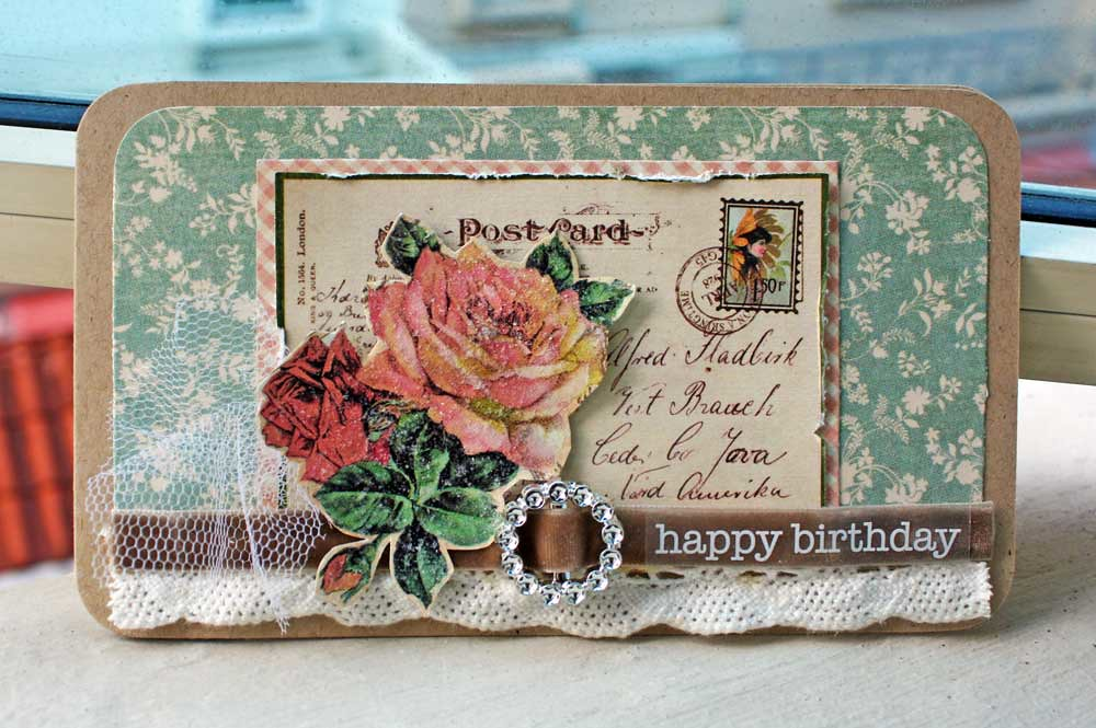 Happy Birthday Vintage Card Graphic 45 Patterned Papers S Flickr