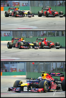 F1 2012 Singapore Singtel Grand Prix - Webber overtaking Charles Pic at Turn 10-11 | by j-imaging