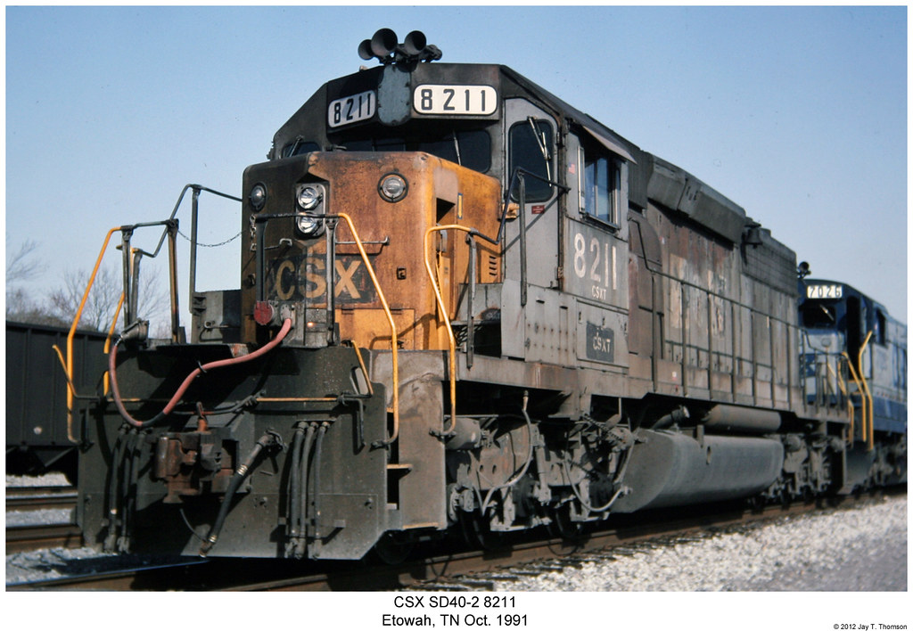CSX SD40-2 8211 | Reproduced 35mm Slide Photo shot by my ...