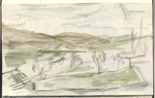 23p41 cropped - Into Healaugh, Yorkshire Dales | by Paul Ryan Sketchbooks etc