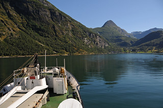 Hurtigruten MS Lofoten approaching Geiranger / Norway | by ANJCI ALL OVER