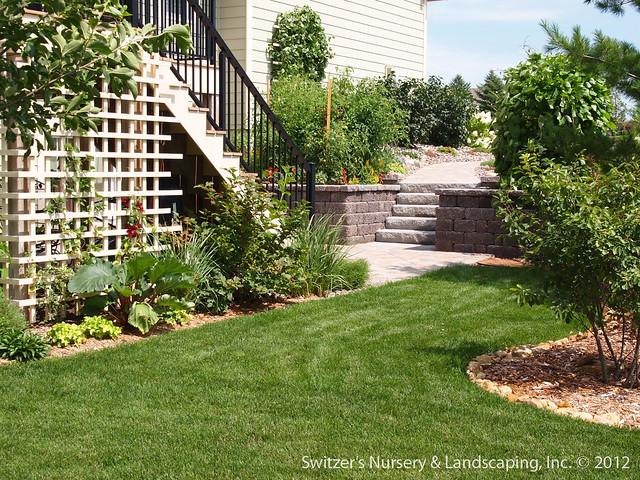 Under Deck Garden Ideas : Paver patio under deck with retaining wall steps