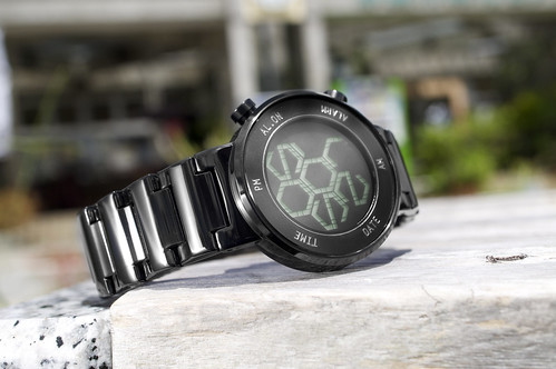 Kisai Zone LCD Watch Design with Hexagonal Numbers from Tokyoflash Japan | by Tokyoflash Japan