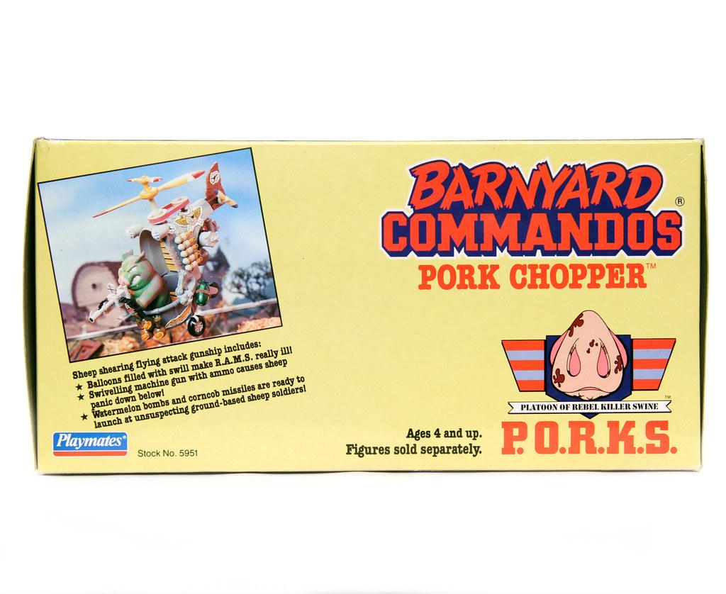 Pork Chopper Top Barnyard Commandos Playmates 1990