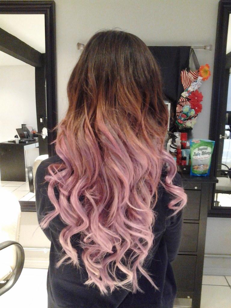 brown to light pink ombre | hairdresseronfire7 | Flickr
