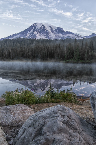 Sunrise over Mt Rainier | by NikonDigifan
