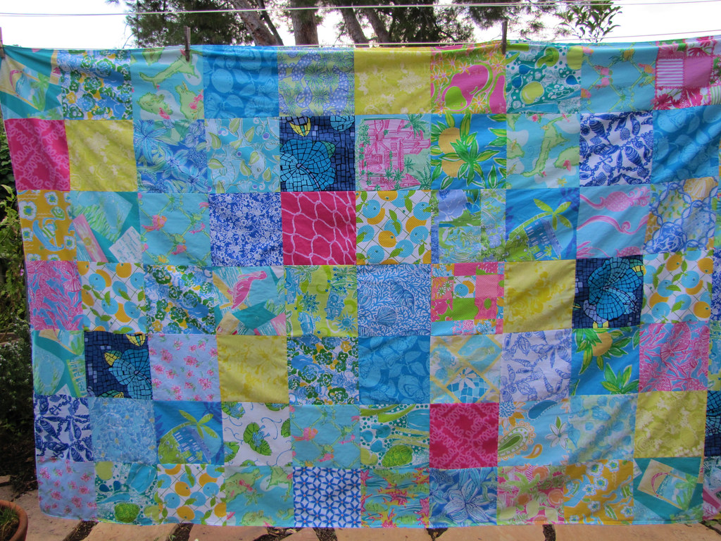lilly pulitzer dorm bedding | 60x88 patchwork using all lill… | flickr