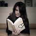 Simona reading my book