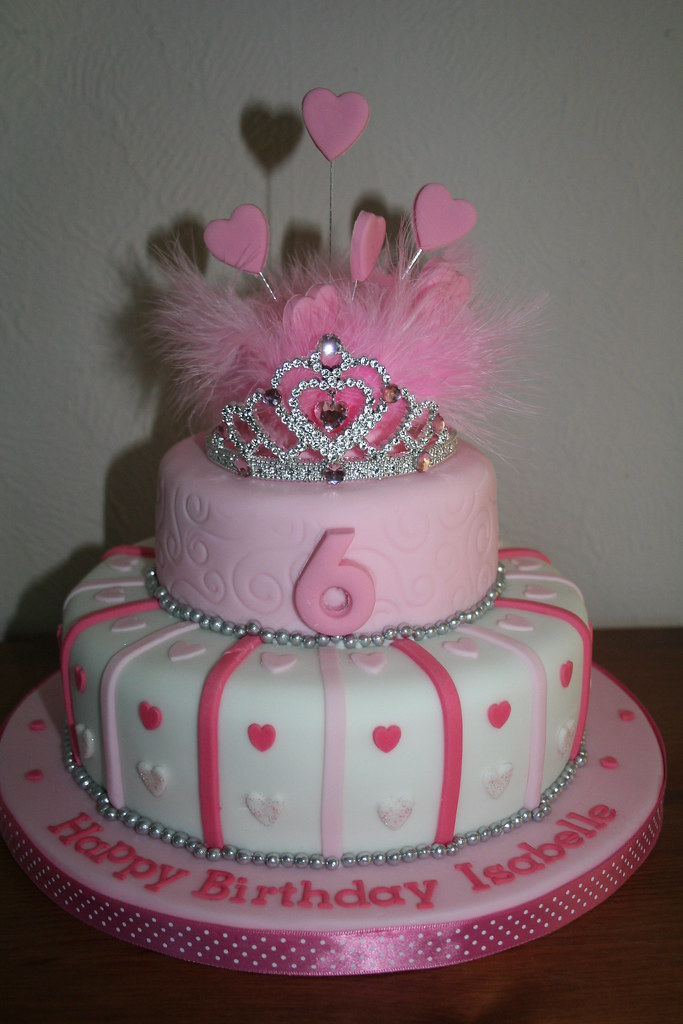 Tiara Birthday Cake For A Princess Fiona Keane Flickr