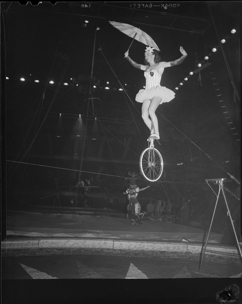 Circus aerialist on the high wire | File name: 08_06_021349 … | Flickr