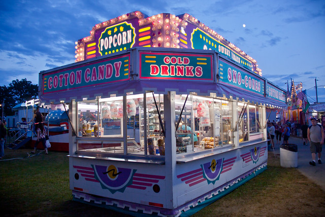 Popcorn Amp Cotton Candy Stand Windsor Fair Maine
