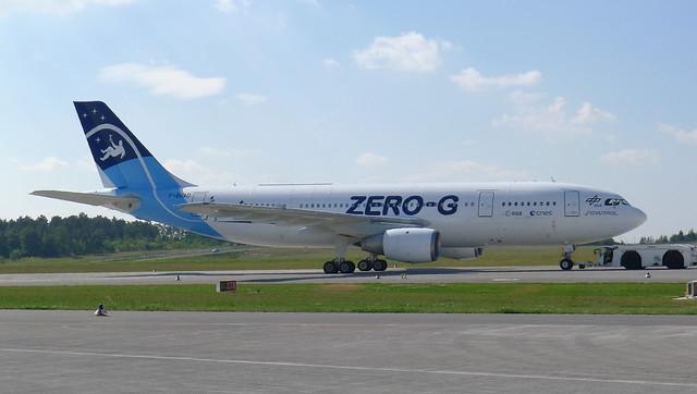 abgeschleppt: Airbus A300 Zero-G