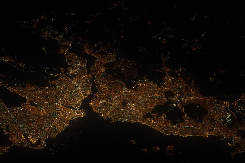 Istanbul at Night (NASA, International Space Station, 09/0 ...
