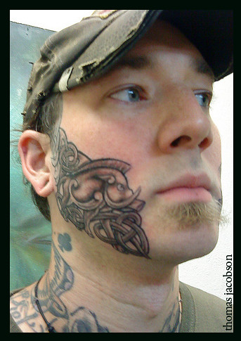 Face tattoo by thomas jacobson orlando florida thomas for Best tattoo artist in florida