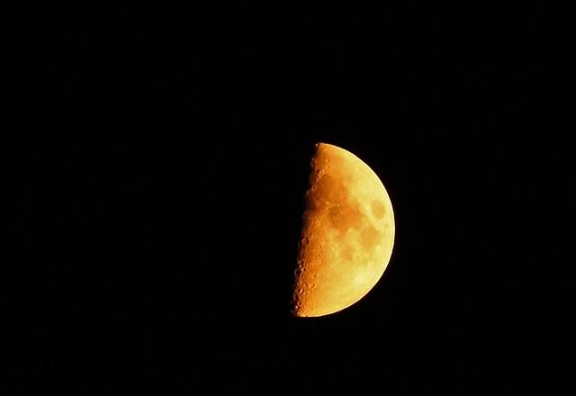 Orange Moon on the Fall Equinox