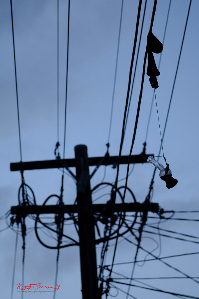 The Bong on the Wires | I spotted this unusual power line \'t… | Flickr