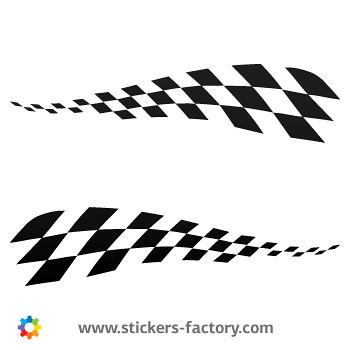Flag racing design sticker decal 01082 by stickers factory
