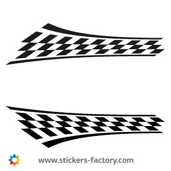 Flag racing design sticker decal 01051 by stickers factory