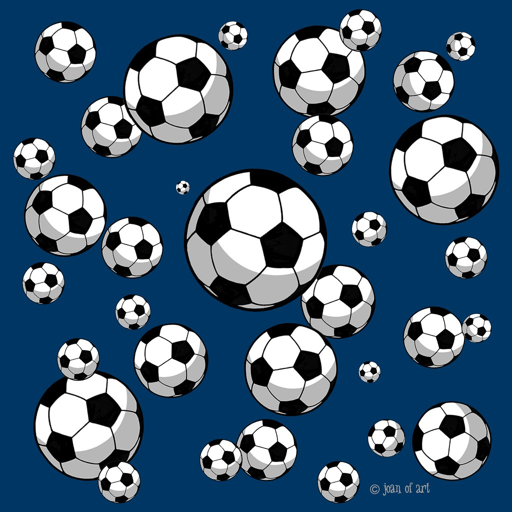 Soccer ball pattern - navy blue background | Products ...