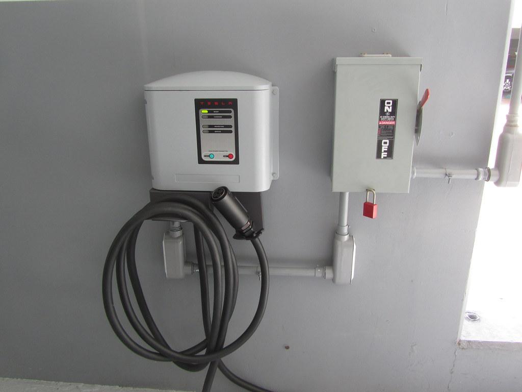 tesla electric charging station tesla charging station fa flickr. Black Bedroom Furniture Sets. Home Design Ideas