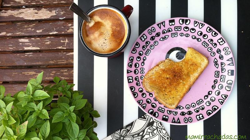 Ejemplo de un almuerzo de una dieta hipocarbonada, sólo una tostada al día, planifica como administrártela...