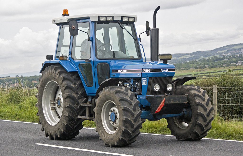 Ford 7810 Tractor : Ford tractor seen taking part in