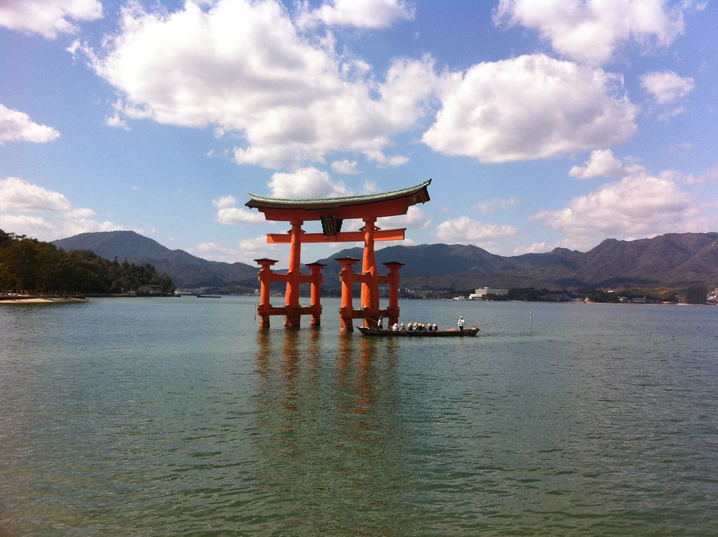 Itsukushima Shrine  on the Island of Miyajima, near ...