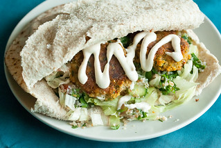 Sweet Potato Falafel Wraps | by Isabelle @ Crumb