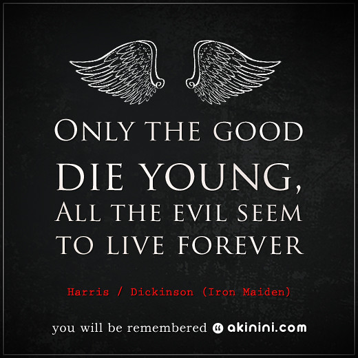 The Good Die Young Lyrics