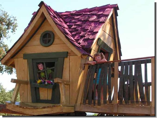 building a crooked playhouse
