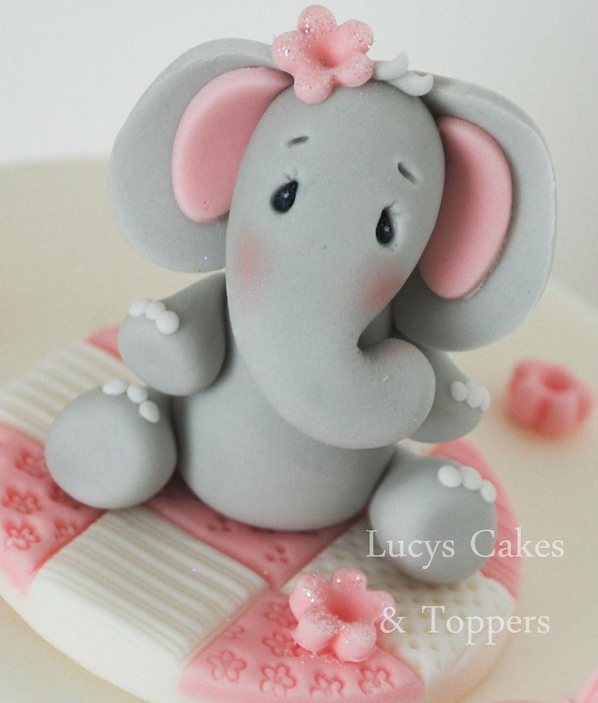 Elephant Cake Topper Christening Birthday Please Click On Flickr