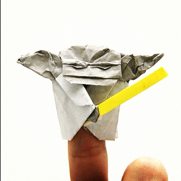 Origami Yoda From The Book Cover Of The Strange Case Of O Flickr