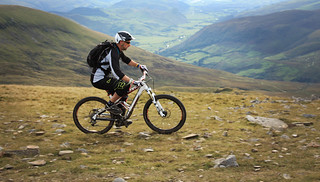 Cyclist near the summit | by Helen in Wales