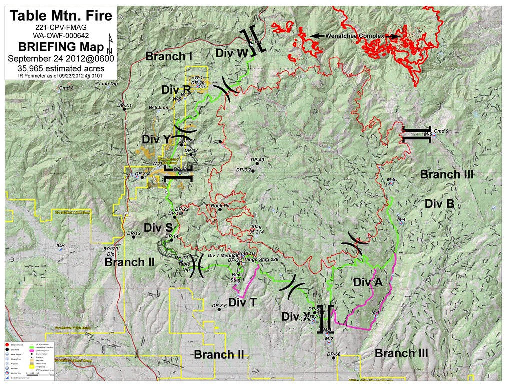 Table Mountain Fire Map 9 24 2012 Briefing Map For The Tab Flickr