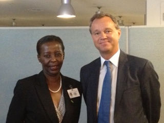 UK Minister Mark Simmonds meeting with Rwanda's Foreign Minister, Louise Mushikiwabo, at the UN General Assembly | by UK UN, New York