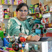 Rifat, at her cosmetics shop and general store in Gujar Khan Town
