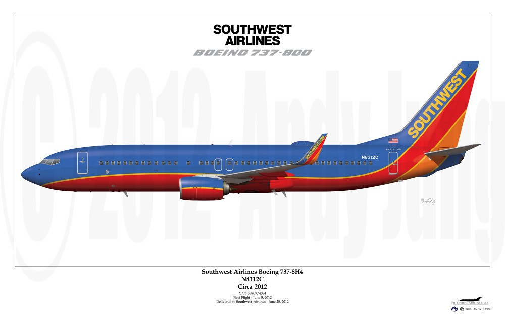 Southwest airlines boeing 737 8h4 n8312c sample shot for Southwest airlines free wifi