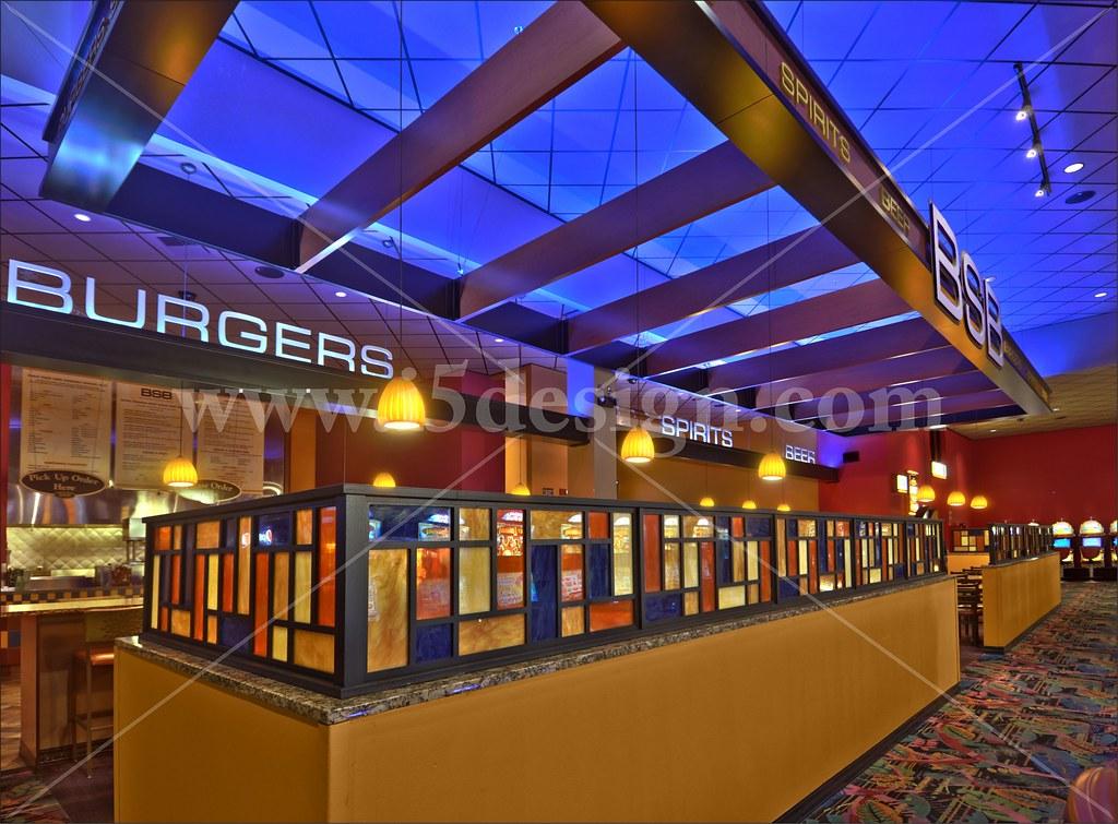 Casino restaurant sports bar design interior restauran for Pictures for restaurant walls