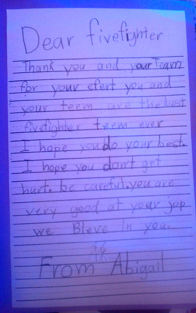 thank you letter for firefighters one of the many thank yo flickr