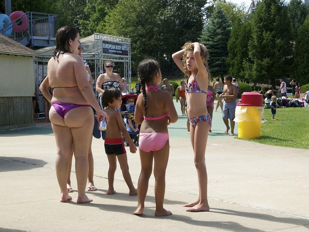 Water park bikini booty 16