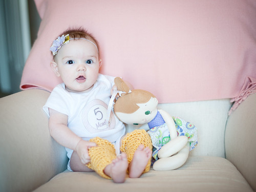 Clara five months | by I Should Be Folding Laundry