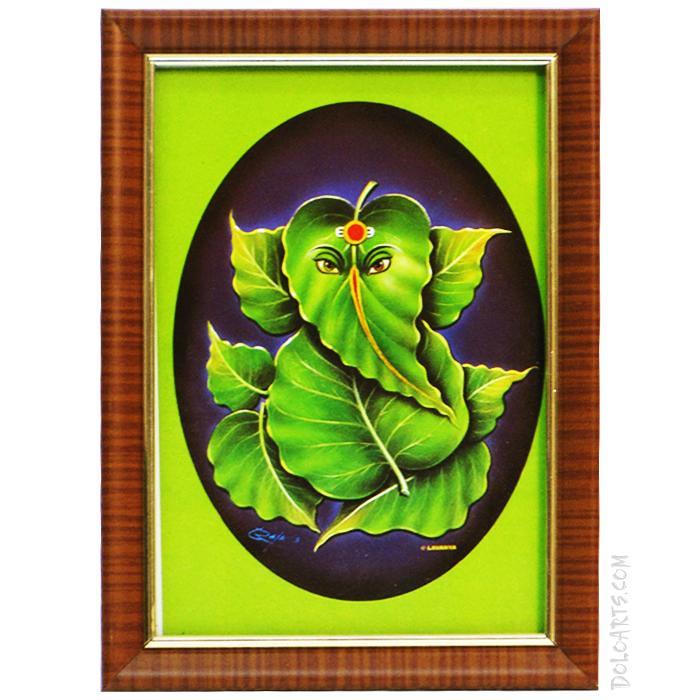 Buy Leaf Ganesha photo frames online   doloarts.com   Flickr