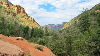 Vultee Arch - view down approach canyon - Sedona | by Al_HikesAZ