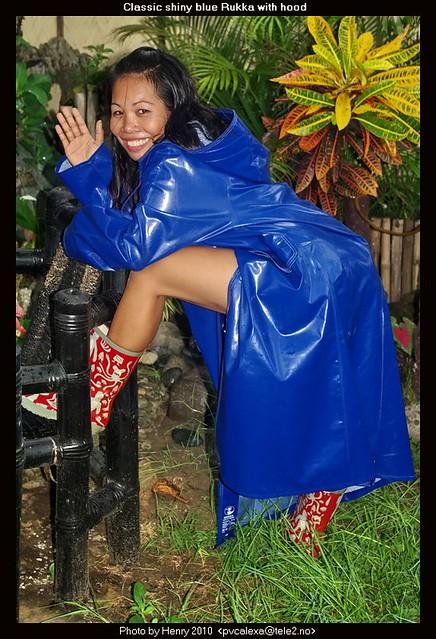 Shiny Blue Rukka Raincoat 02 Flickr Photo Sharing
