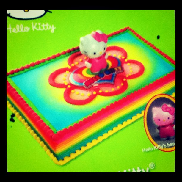Hello Kitty Rainbow Birthday Cake Spotted At Price Choppe