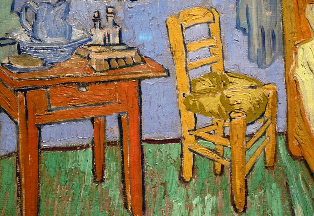 Van Gogh, The Bedroom, detail with chair   Vincent van Gogh,…   Flickr