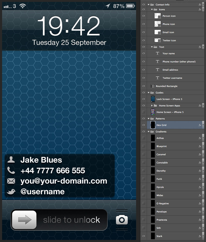 Iphone 5 wallpaper template for more info and to download flickr iphone 5 wallpaper template by matt gemmell maxwellsz