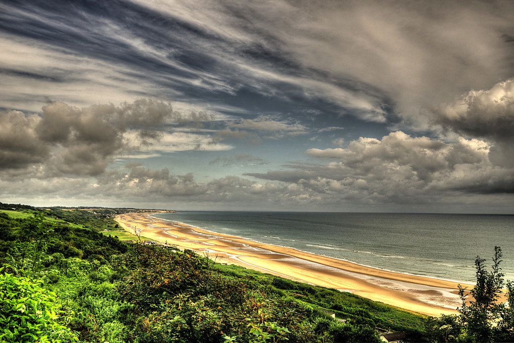 Omaha Beach, view from...